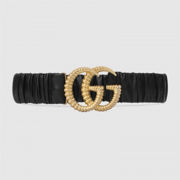 Gucci 582093 B340G 1000 弹性 饰双G搭扣腰带