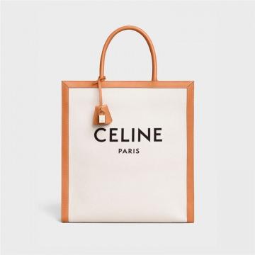 Celine 190402BNZ.02NT CABAS CELINE 竖款帆布和小牛皮手袋