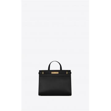 YSL 56870202G0W1000 黑色 MANHATTAN 小号购物袋
