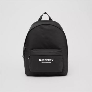 Burberry 80210841 黑色 徽标印花 ECONYL® 双肩包