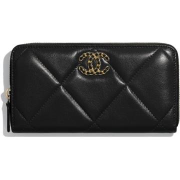Chanel AP0946 B01564 94305 黑色 19长款拉链皮夹