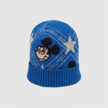 Disney x Gucci 604032 4GA50 4300 蓝色 羊毛提花帽
