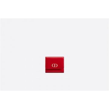 Dior迪奥 S2057OWPJ_M52R 樱桃红中号漆皮牛皮革 30 MONTAIGNE LOTUS钱包