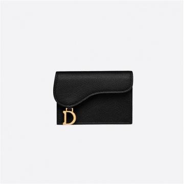 Dior迪奥 S5611CWVG_M900 黑色 牛皮革马鞍卡套