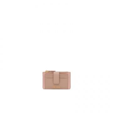 Prada普拉达 1MC038_2CJY_F0ZIL 裸粉 皮革卡片夹