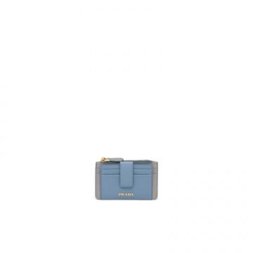 Prada普拉达 1MC038_2CJY_F0PUA 蓝色 皮革卡片夹