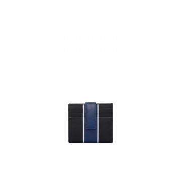 Prada普拉达 2MC063_2FAF_F011E 蓝色条带卡片夹