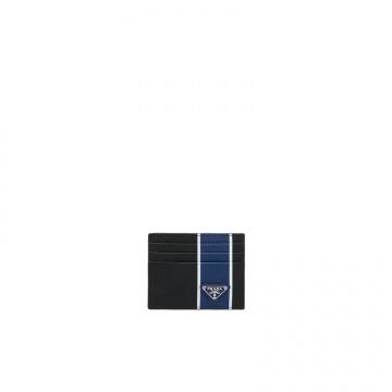 Prada普拉达 2MC223_2FAF_F011E 蓝色条带卡片夹