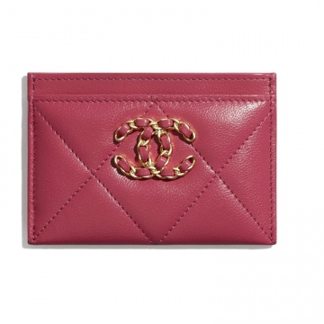Chanel香奈儿 AP1167 B02720 N6511 深粉红 CHANEL 19卡套