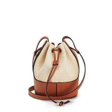 Loewe罗意威 0010440774 米色/棕色 Balloon 小号水桶包