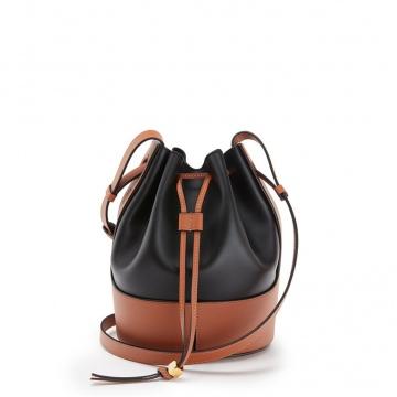 Loewe罗意威 0010445872 黑色/棕褐色 Balloon 小号水桶包