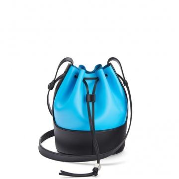 Loewe罗意威 0010445864 湖水蓝/黑色 Balloon 小号水桶包