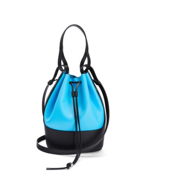 Loewe罗意威 0010445856 湖水蓝/黑色 Balloon 水桶包
