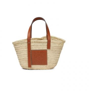 Loewe罗意威 0010111482 原色/棕褐色 Basket 草编菜篮子
