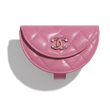 Chanel香奈儿 AP1346 B02784 5B648 粉红 口盖零钱手腕包