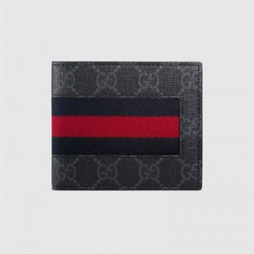 Gucci古驰 408827 KHN4N 1095 GG高级人造革织带钱包