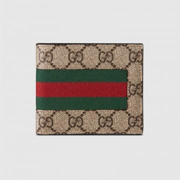 Gucci古驰 408827 KHN4N 9791 织带GG高级人造革皮夹