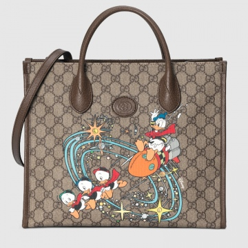Gucci 648134 2N0AT 8679 Disney x Gucci唐老鸭印花 托特包