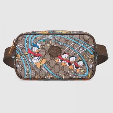 Gucci 602695 2O4AT 8679 Disney x Gucci唐老鸭印花 腰包