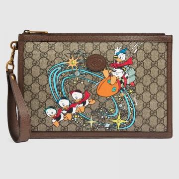 Gucci 647925 2OAAT 8679 Disney x Gucci唐老鸭印花 手拿包