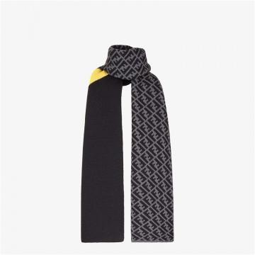 Fendi芬迪 FXS124AEVBF0A2Y 拼色羊毛围巾