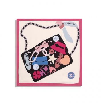 Chanel AA7369 B04885 NB135 方形围巾