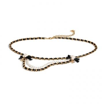 Chanel香奈儿 AB4589 B03697 N8135 黑色腰带