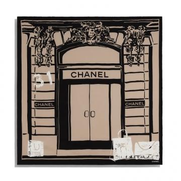Chanel香奈儿 AA7250 B04517 N9520 AA7250 B04517 N9519 方形围巾
