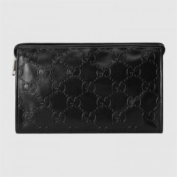 Gucci 625568 1W3AN 1000 GG印花压纹化妆包