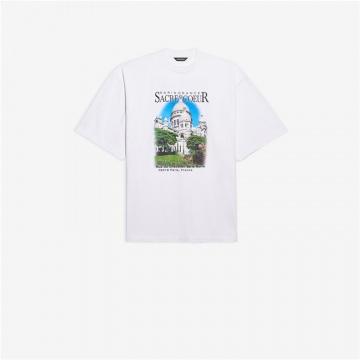 Balenciaga 641614TJVH69000 641614TJVH61000 Sacré Cœur 加大号T恤