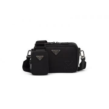 Prada普拉达 2VH070 Brique Re-Nylon 再生尼龙和Saffiano皮革 手袋