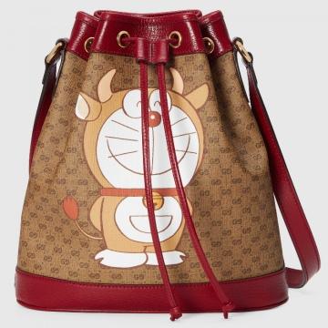 Gucci 655597 2TYAG 9795 Doraemon x Gucci联名系列 新年特别款小号水桶包