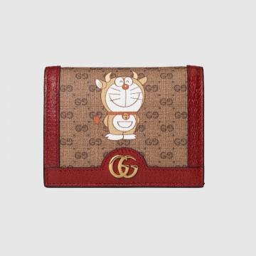 Gucci 654541 2T5AG 9795 Doraemon x Gucci联名系列 新年特别款卡包