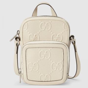 Gucci 658553 GG印花压纹 迷你手袋