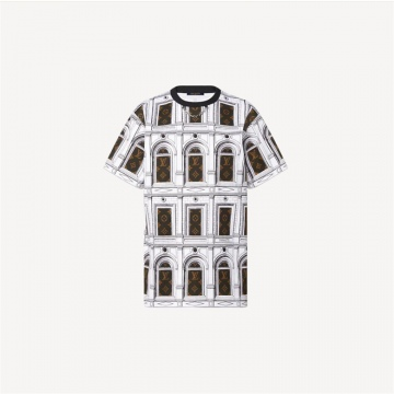 LV 1A9BH5 建筑图案 T恤