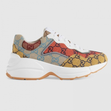 Gucci 663659 663681 GG Multicolor系列 Rhyton运动鞋
