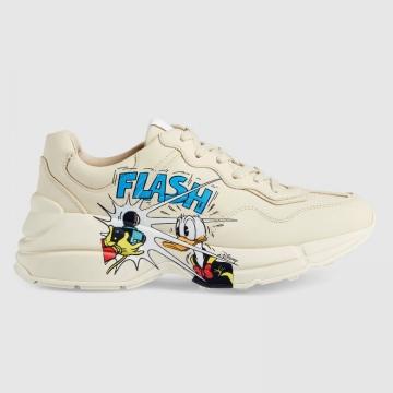 Gucci 646509 646506 Disney x Gucci唐老鸭印花 Rhyton运动鞋