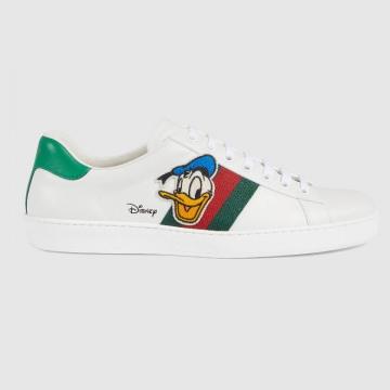 Gucci 649399 649401 Disney x Gucci Ace系列 唐老鸭印花运动鞋