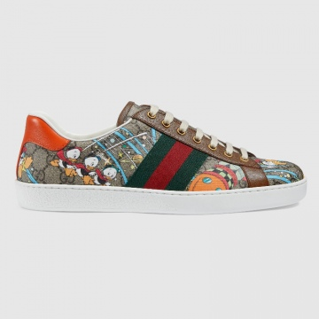Gucci 647950 649657 Disney x Gucci Ace系列 唐老鸭印花运动鞋