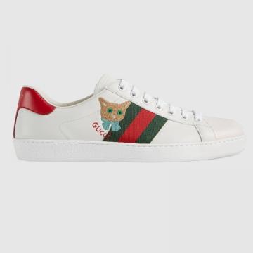 Gucci 663219 664142 Ace系列 猫咪刺绣运动鞋