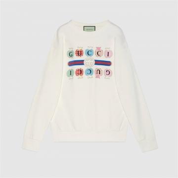 Gucci 617964 XJDOK 9095 心苹果图案卫衣
