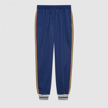 Gucci 650041 XJC5O 4030 平纹针织慢跑长裤