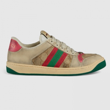 Gucci 570443 Screener系列 皮革运动鞋