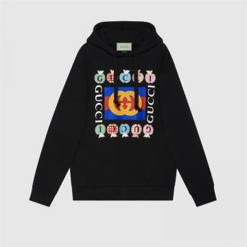 Gucci 615061 XJDOM 1082 心苹果图案卫衣
