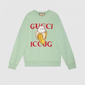 Gucci 617964 XJDGS 3614 Bananya印花棉质卫衣