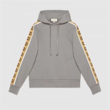 Gucci 596230 XJBUW 1233 针织棉兜帽卫衣